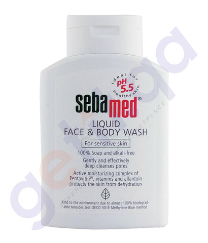 SOAP - SEBAMED FACE AND BODY WASH 200ML