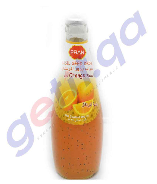 SOFT DRINK - PRAN BASIL SEED DRINK WITH ORANGE- 290ML