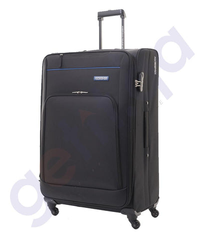 SOFT TROLLEYS - AMERICAN TOURISTER  BROOK SPINNER SOFT TROLLEY - BLACK