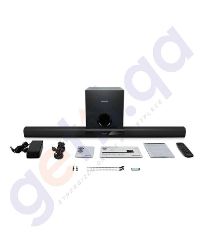Speakers - PHILIPS BLUETOOTH AND NFC SOUNDBAR - HTL3140