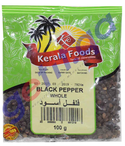 Spices & Herbs - BLACK PEPPER WHOLE  BY KERALA FOODS