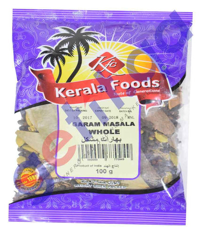 Spices & Herbs - KERALA FOODS GARAM MASALA WHOLE MIX 100GM