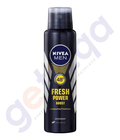 SPRAY - NIVEA 150ML MEN FRESH POWER BOOST DEODORANT (82912)
