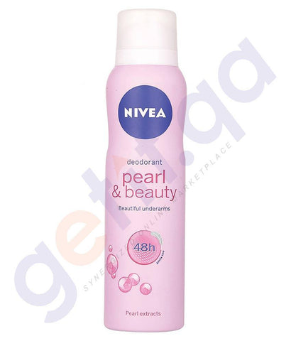SPRAY - NIVEA 150ML PEARL & BEAUTY WOMEN'S DEODORANT (83731)