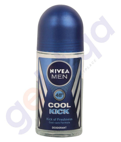 SPRAY - NIVEA 50ML COOL KICK ROLL-ON MEN (82886)