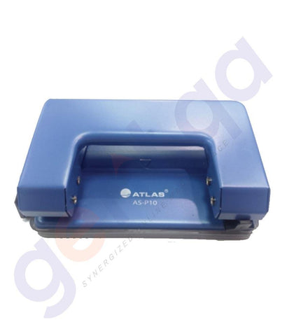 STAPLER REMOVERS & PUNCH - ATLAS PAPER PUNCH 10 SHEETS BLUE - AS-P10-BE