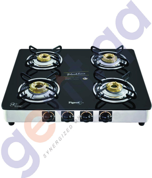 Pigeon 4 Burner Blackline Square Stainless Steel Auto Gas Stove