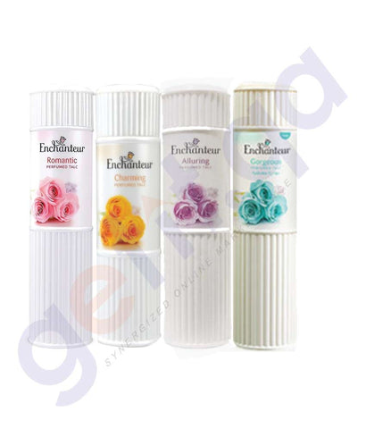 BUY ENCHANTEUR (4 PIECE)125GM TALC-ASSORTED ONLINE IN QATAR