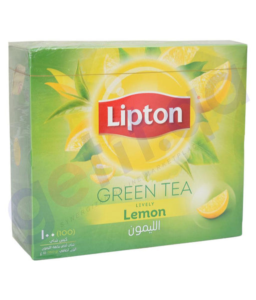 TEA BAGS - LIPTON GREEN TEA LEMON - 100NOS