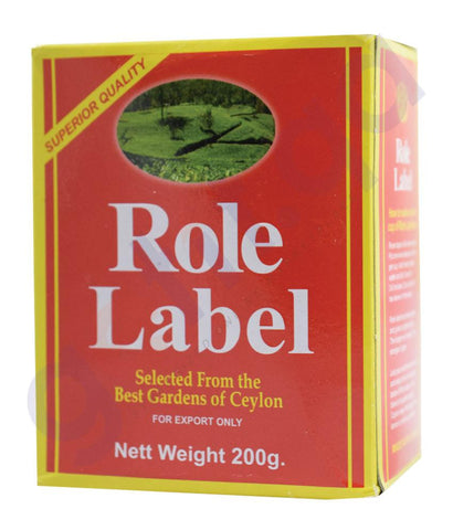 TEA POWDER - ROLE LABEL TEA POWDER