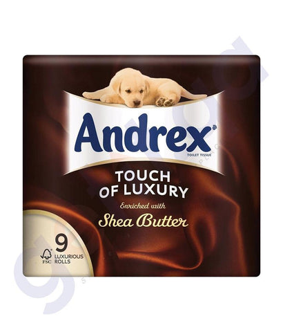 TISSUES - ANDREX TOILET TISSUE SHEA BUTTER 9 LUXURIOUS ROLLS