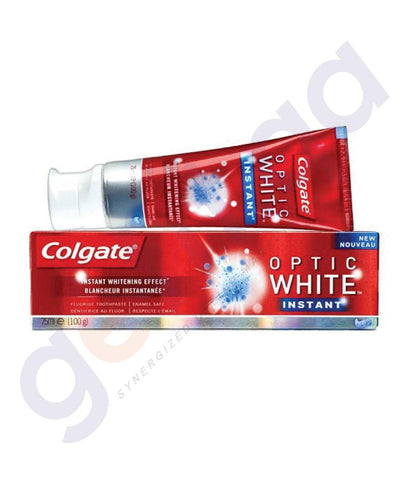TOOTH PASTE - COLGATE FLUORIDE OPTIC WHITE INSTANT - 75ML
