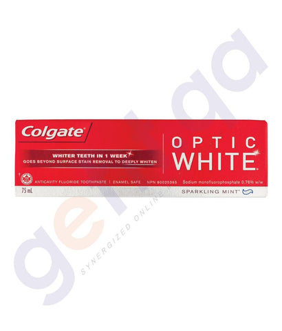 TOOTH PASTE - COLGATE FLUORIDE OPTIC WHITE SPARKLING - 75ML