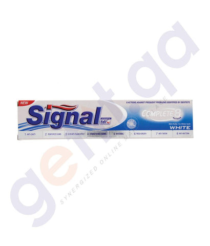 TOOTH PASTE - SIGNAL COMPLETE 8 WHITE - 120ML