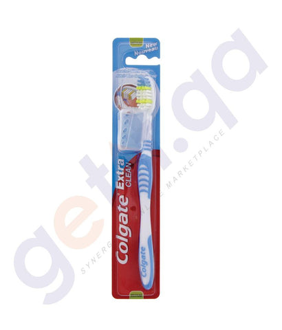 TOOTHBRUSH - COLGATE TOOTHBRUSH EXTRA CLEAN  MEDIUM 1PC ASSRTD