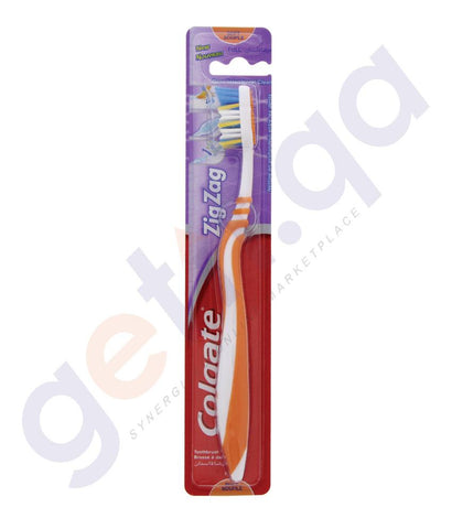 TOOTHBRUSH - COLGATE TOOTHBRUSH ZIGZAG FLEXIBLE  MEDIUM 1PC