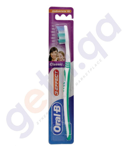 TOOTHBRUSH - ORAL-B TOOTHBRUSH 3EFFECT CLASSIC  MEDIUM 1PC