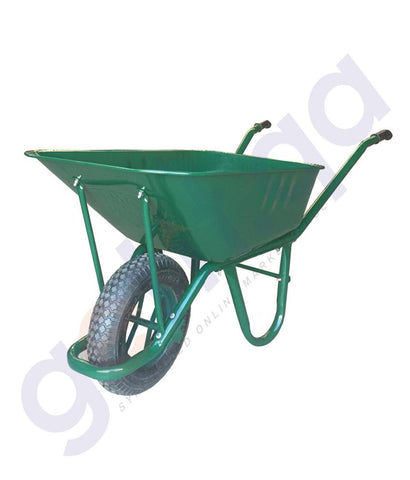 TROLLEY - KANAT WHEEL BARROW (0.60mm THICKNESS) 80LTR CAPACITY – GREEN – TRD-471