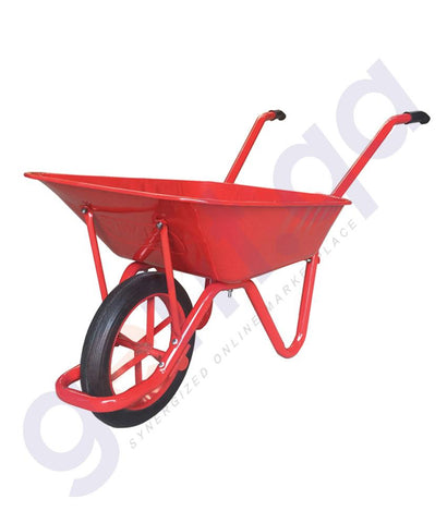 TROLLEY - KANAT WHEEL BARROW  (0.90mm THICKNESS)   KANAT PLUS  100LTR CAPACITY  RED –KPD161