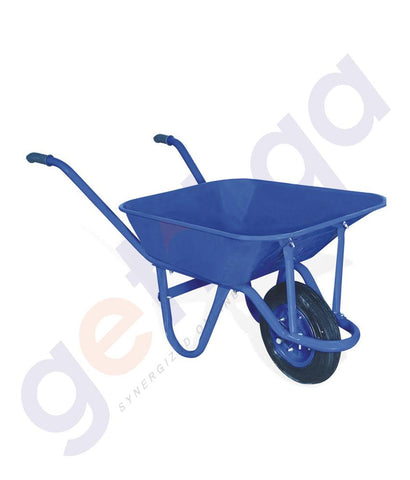 TROLLEY - WHEEL BARROW (0.80mm THICKNESS) 80LTR  CAPACITY – BLUE – KD-111