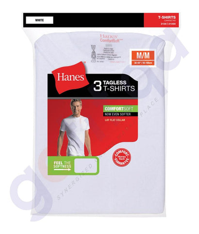 UNDERGARMENTS - HANES MEN'S CREW NECK T-SHIRT- 3 PIECE PACK- 2135
