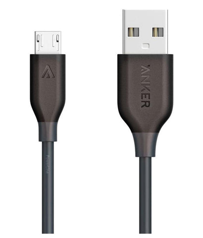 USB Cable - Anker Powerline Micro Usb Cable 10ft A8134H11 - Grey ( ANDROID )