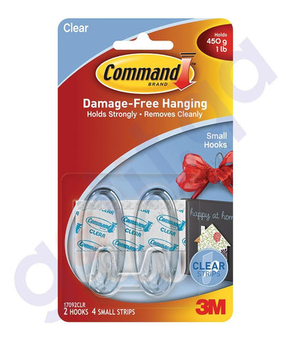 Wall Decals - 3M COMMAND SMALL HOOKS/ STRIPS REGULAR - 17092CLR
