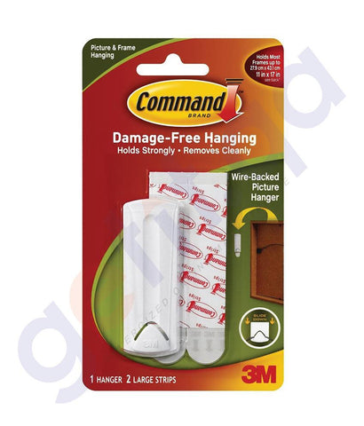 3M COMMAND WIRE BACKED PIC HANGER/STRIPS REGULAR IN QATAR