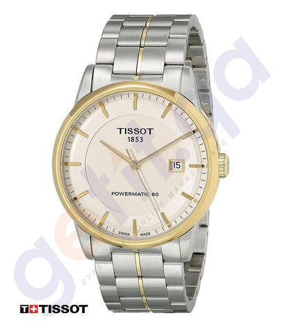 WATHCES - TISSOT POWERMATIC 80 IVORY DIAL STAINLESS STEEL MENS WATCH - T0864072226100