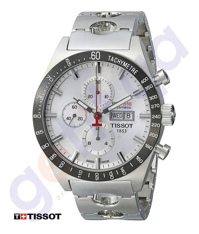 WATHCES - TISSOT SPORTS AUTOMATIC CHRONOGRAPH TACHYMETER SILVER MEN'S WATCH - T0446142103100