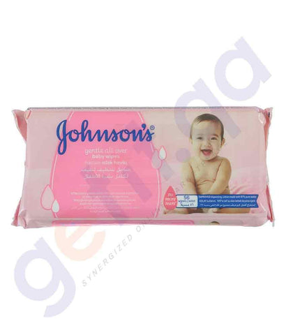 WIPES - JOHNSON'S GENTLE CLEANSING BABY WIPES 56 PCS