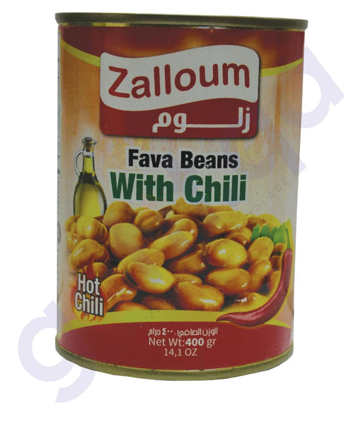 ZALLOUM FAVA BEANS WITH CHILI - 400 GM