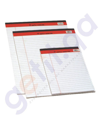 WRITING PAD - SINAR  WRITING PAD A4 50 SHEETS WHITE - P002074