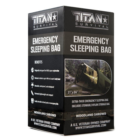 TITAN «Emergency Sleeping Bag» Woodland Shrowd