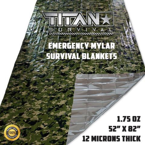 TITAN «Emergency Blanket» Woodland Shrowd