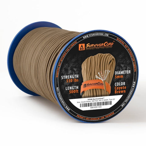 TITAN «SurvivorCord» Coyote Brown Spool 150 Meter