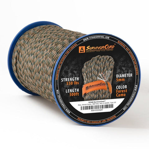 TITAN «SurvivorCord» Forest-Camo Spool 150 Meter