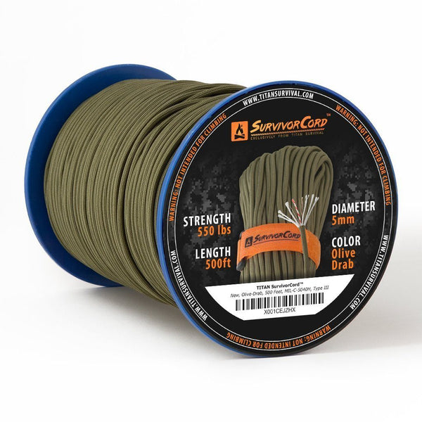TITAN «SurvivorCord» Olive-Drab Spool 150 Meter