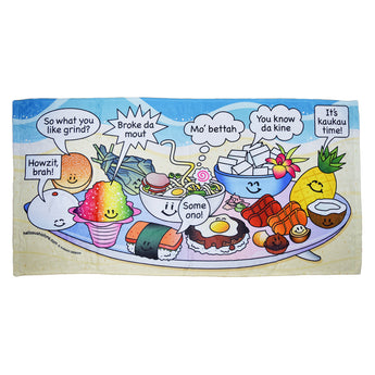 Hawaiian Slang Beach Towel