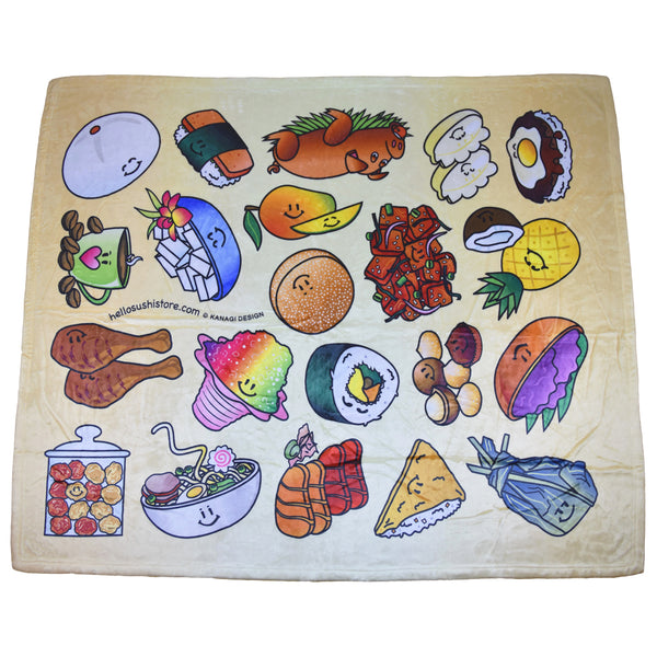 Hawaiian Blanket by Hello Sushi Store