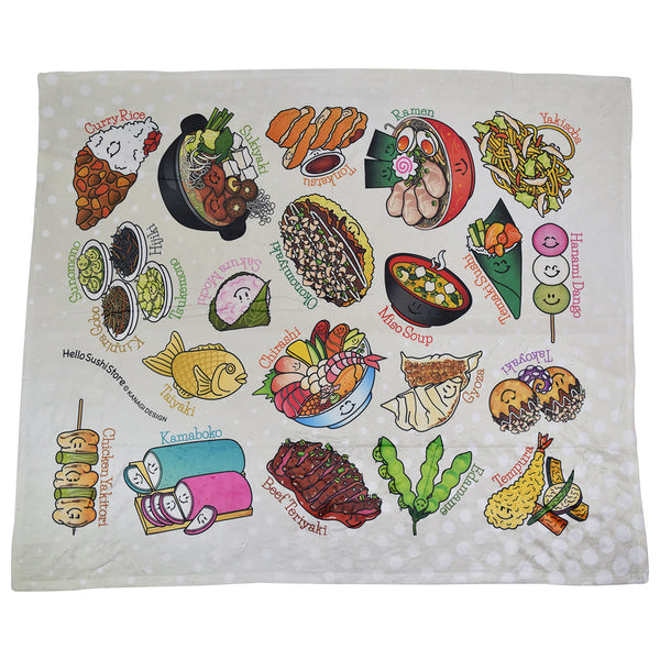 Japanese Blanket by Hello Sushi Store