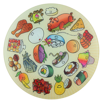Hawaiian Cutting Board (Round)