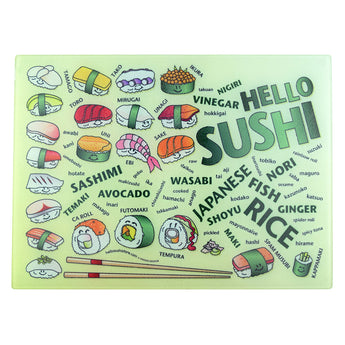Sushi Words Cutting Board (Large)