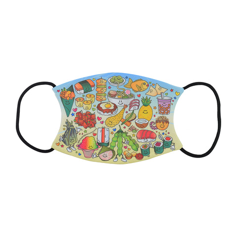 Variety Food Face Mask by Hello Sushi Store