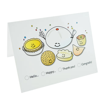 Dim Sum Note Cards - Hello Sushi Store