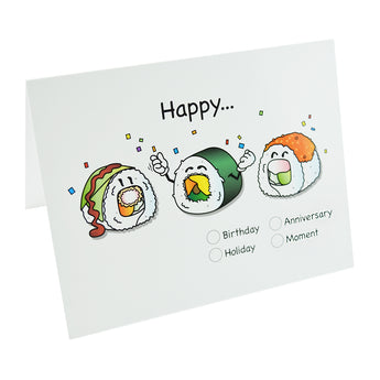 Sushi Note Cards (Happy) by Hello Sushi Store