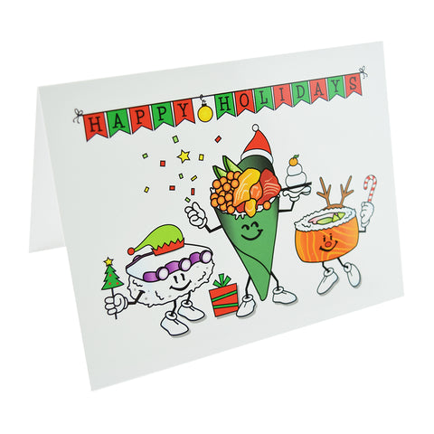 Holiday Sushi Note Cards