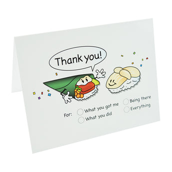 Thank You Sushi Note Cards - Hello Sushi Store