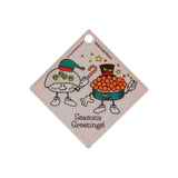 Season's Greetings Sushi Ornament (Diamond) - Hello Sushi Store