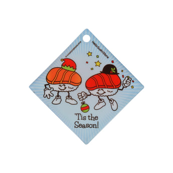 'Tis The Season Sushi Ornament (Diamond) - Hello Sushi Store